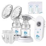 Milchpumpe, Elektrische Milchpumpe mit LED-Touchscreen, Massage &...