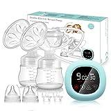 Elektrische Milchpumpe PiAEK Doppel Milchpumpe Stillpumpe mit Touchscreen...